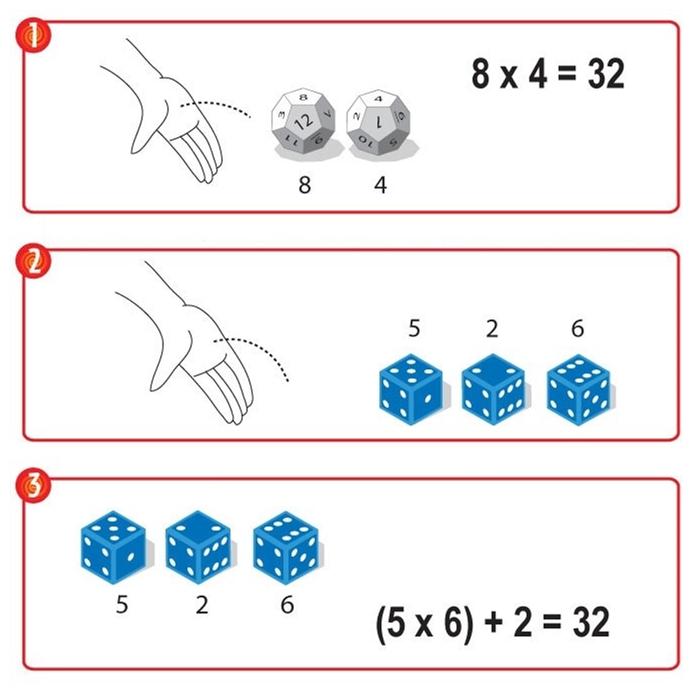 ThinkFun Matematik Zarları (Math Dice)