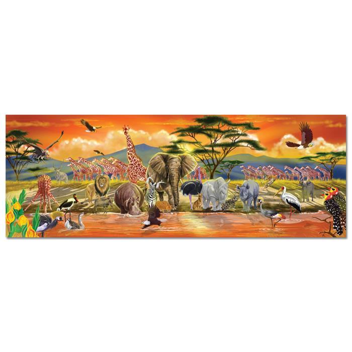 Melissa and Doug Dev Yer Yapbozu - Safari (100 parça)