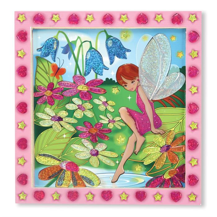Melissa and Doug Tablo - Yapıştır Yarat - Çiçek Bahçesi ve Peri