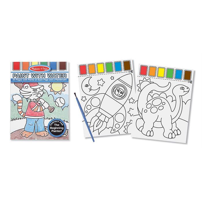 Melissa and Doug Sulu Boyalı Boyama Kitabı - Mavi