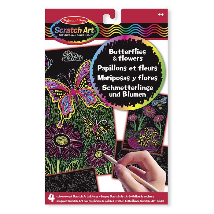 Melissa and Doug Kazıma Sanatı - Renkleri Ortaya Çıkar - Kelebekler ve Çiçekler