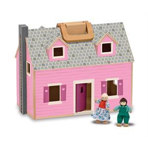 Melissa and Doug Ahşap Taşınabilir Küçük Mobilyalı Ev