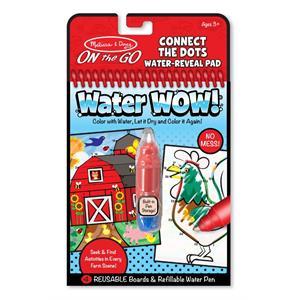 Melissa and Doug Water Wow! Su ile Boyama Kitabı - Çiftlik - Noktaları Birleştir