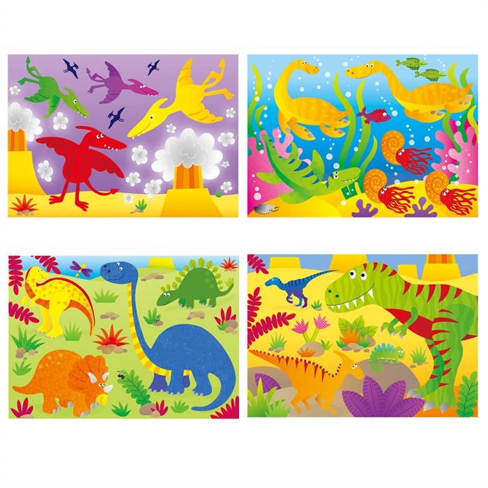 Galt 4 Yapboz 1 Arada - Dinozorlar