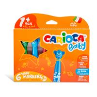 Carioca Jumbo Bebek Süper Yıkanabilir Keçeli Boya Kalemi 6'lı (Yeni)