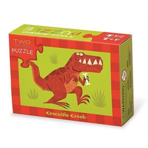 Crocodile Creek 2 Taraflı Puzzle - Dinazor
