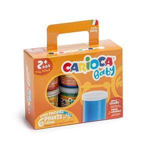 Carioca Bebek Yıkanabilir Parmak Boyası - 6 Renk x 80 gr