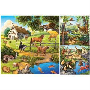 Ravensburger Dağ Hayvanları - 3x49 Parçalı