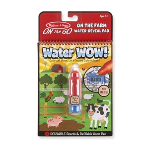 Melissa and Doug Water Wow! Su ile Boyama Kitabı - Çiftlik