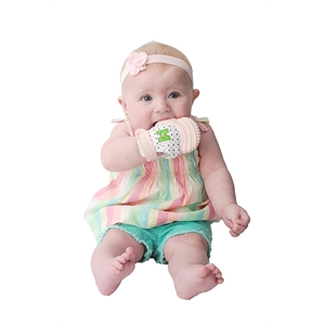 Mouthie Mitten Diş Kaşıyıcı Eldiven - Pastel Pembe