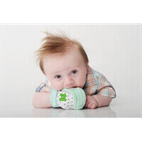 Mouthie Mitten Diş Kaşıyıcı Eldiven - Nane Yeşili