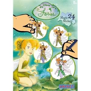 Uniset Uniset Sihirli Çıkartma Birleştir-Çiz-Boya - Disney Fairies