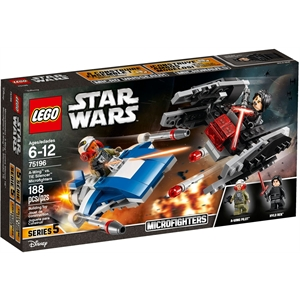 Lego Star Wars 75196 A-Wing vs TIE Silencer Microfighter
