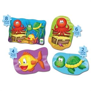 The Learning Journey 4 Puzzle Bir Arada - Okyanus