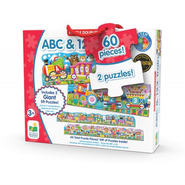 The Learning Journey 60 Parça Dev Puzzle Tren - ABC 123