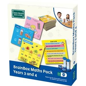 BrainBox Matematik Paketi 3-4 (Maths Pack Years 3 and 4) (İngilizce)