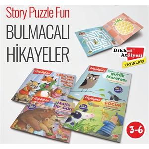 Sticker Hikayeli Bulmaca 4'lü Set