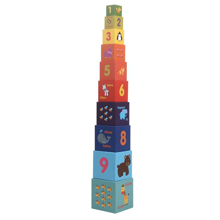 Rossie Kule Oyunu 10'lu İçiçe Eğitici Küpler 95 cm