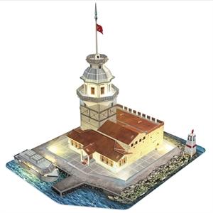 Cubic Fun 3D 66 Parça Led Puzzle Kız Kulesi