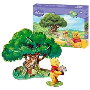 Cubic Fun 3D 42 parça 3 Boyutlu Winnie The Pooh'un Ağaç Evi
