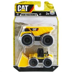 CAT Dump Truck ve Dozer 2'li Mini Araç