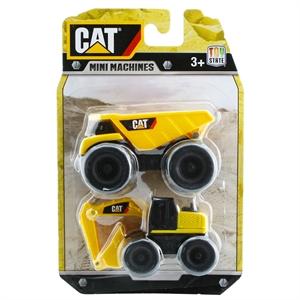 CAT Dump Truck ve Excavator 2'li Mini Araç