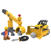 CAT Küçük Operatör Sök Tak İnşaat Seti Bulldozer İş Makinesi