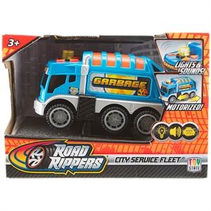 Road Rippers Sesli ve Işıklı Mini Hizmet Araçı M.Temizlik Aracı