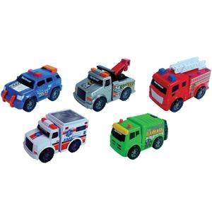 Road Rippers Mini Şehir Araçları 5'li Set 9 cm Acil Yardım