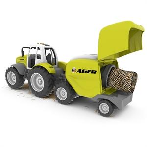 Road Rippers Çiftlik Araçları Balya Makinalı Traktör Oyun Seti