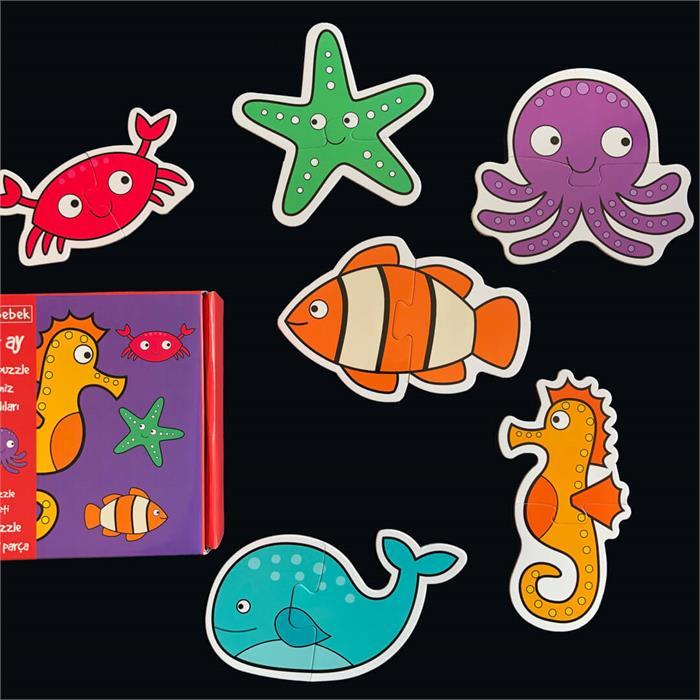 Neobebek Baby Puzzle - Deniz Canlıları