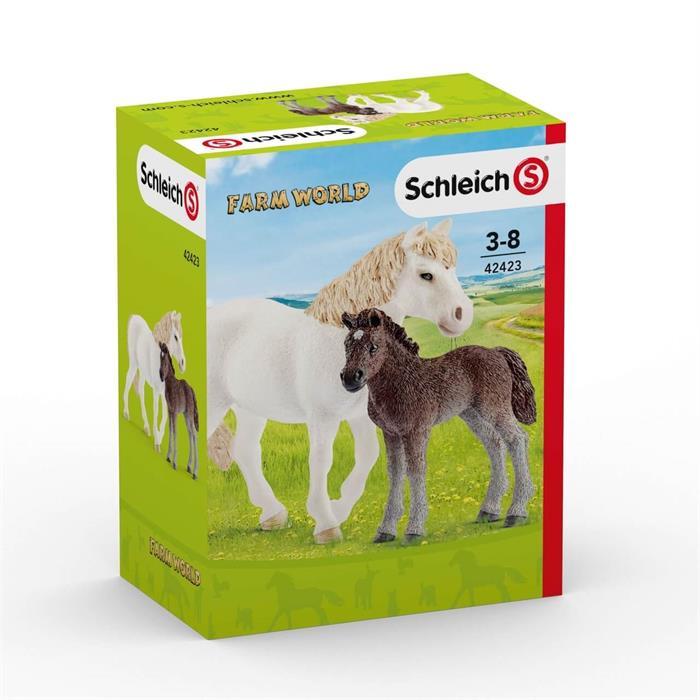 Schleich 42423 Pony Kısrak ve Yavru