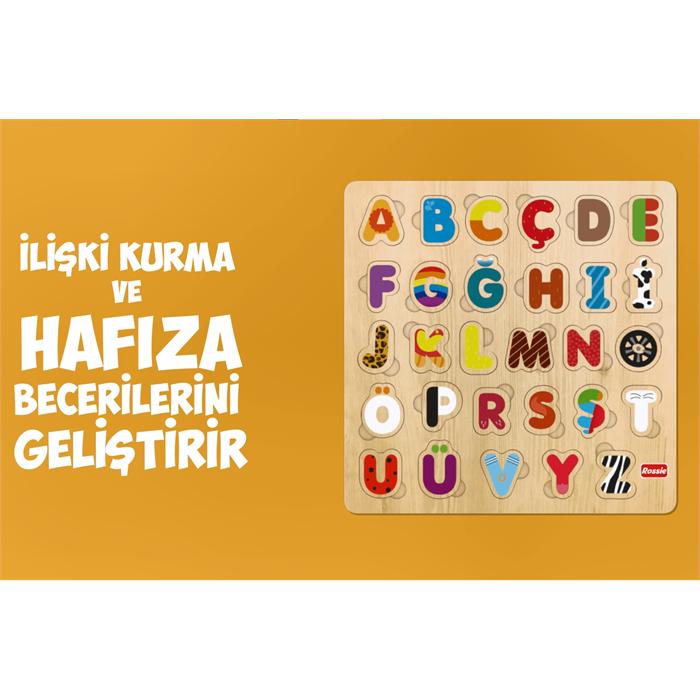 Rossie Ahşap Türkçe Alfabe Yapboz