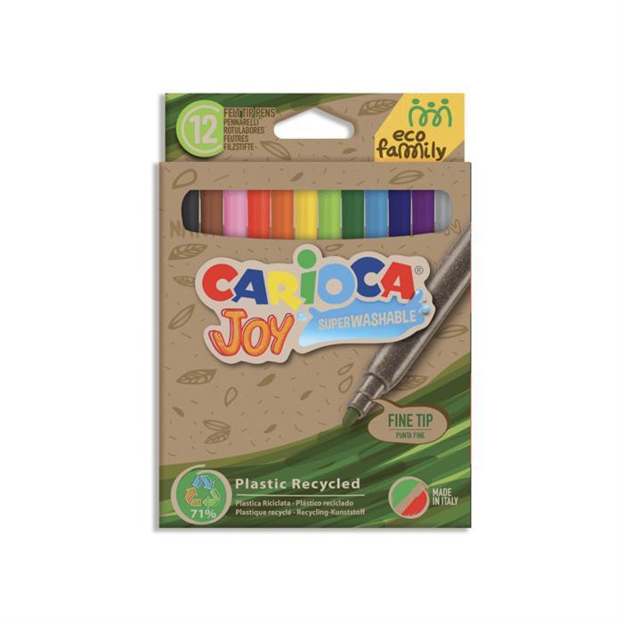 Carioca Ecofamily Joy Süper Yıkanabilir Keçeli Boya Kalemi 12'li