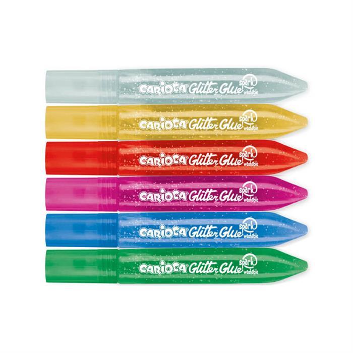 Carioca Yıkanabilir Simli Tutkal Sparkle 6x10,5ml