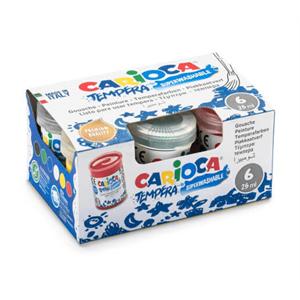 Carioca Tempera Boya (Süper Yıkanabilir) 6x25ml