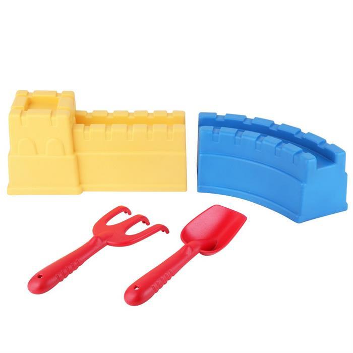 Kanz Kale ve Kürek Seti - Sarı/Mavi