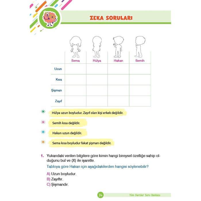 Tüm Dersler Yeni Nesil Soru Bankası - 2.Sınıf