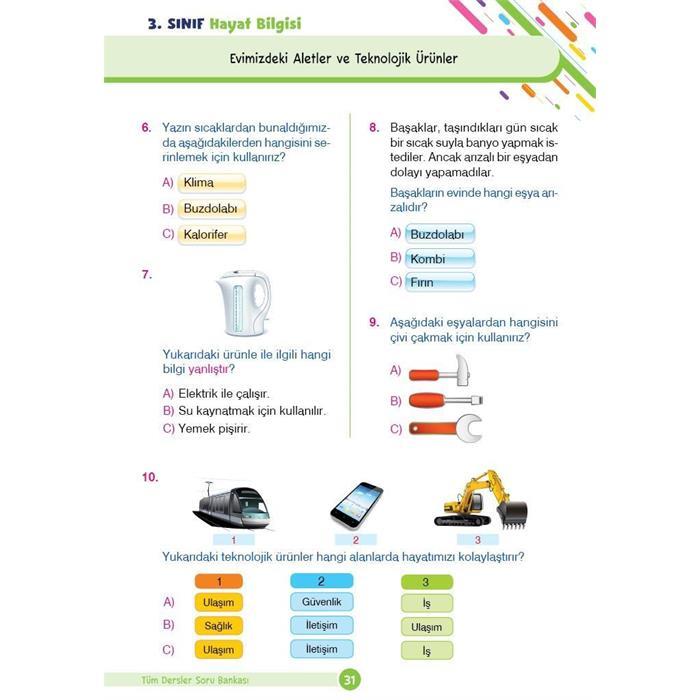 Tüm Dersler Yeni Nesil Soru Bankası - 3.Sınıf