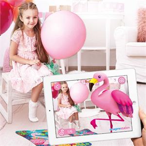 Imagine Station AR Floor Puzzles Flamingo