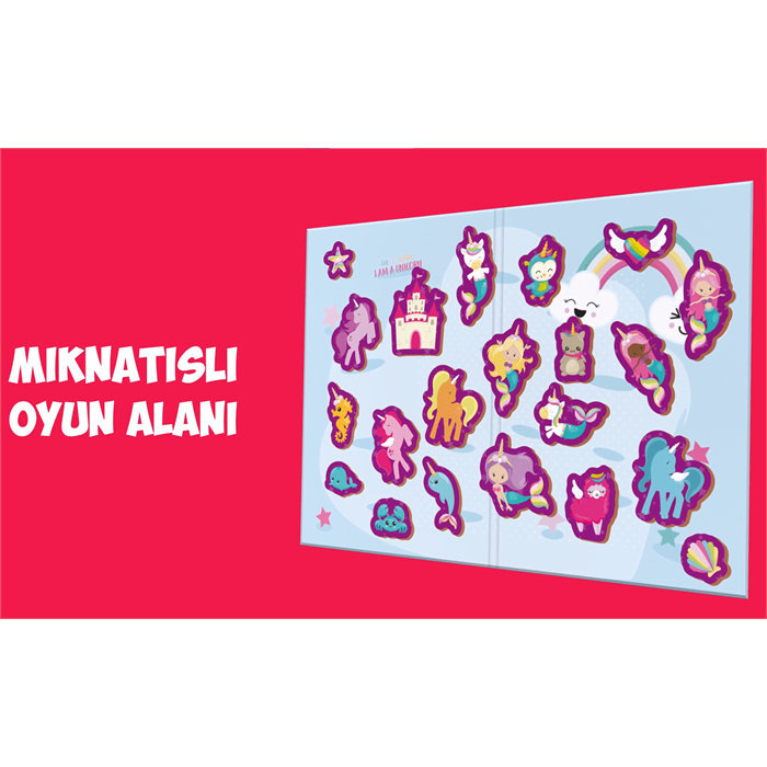 Rossie Ahşap Mıknatıslı Unicorn Oyun Seti (Manyetik Oyun Alanı)