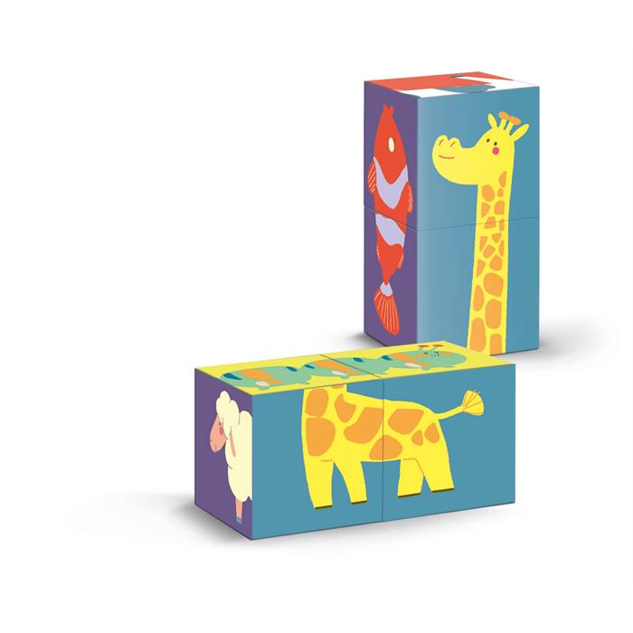 Clementoni Shape Cubes - Hayvanlar
