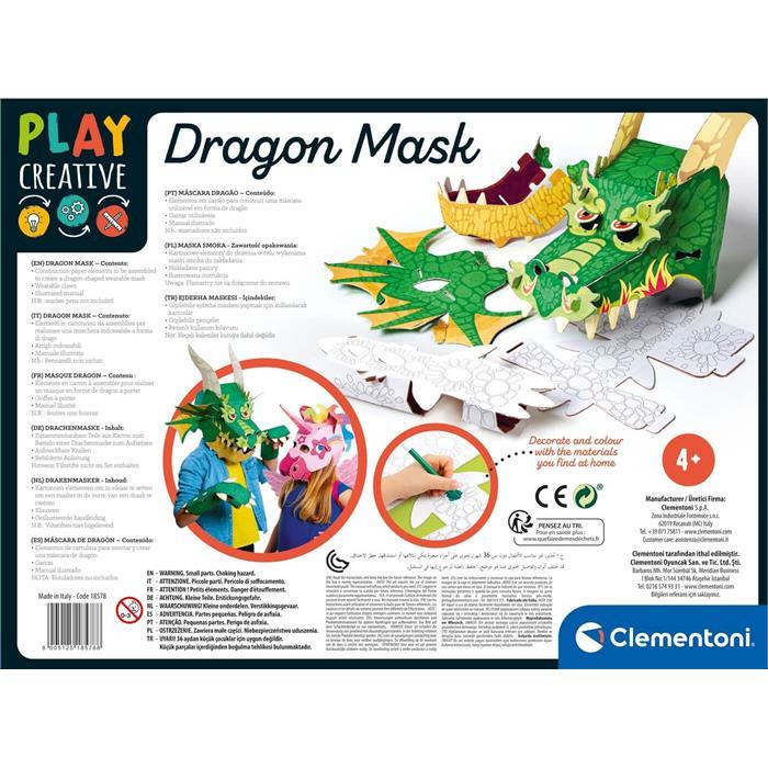 Clementoni Play Creative - Dragon Maske