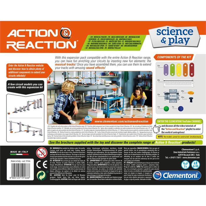 Clementoni Action and Reaction - Müzikal Raylar