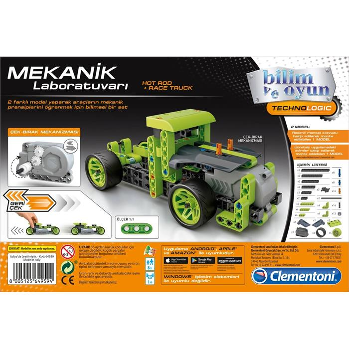 Clementoni Mekanik Laboratuvarı - Hot Rod ve Race Truck