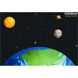 ChildGen Kumaş Oyun Matı - Uzay