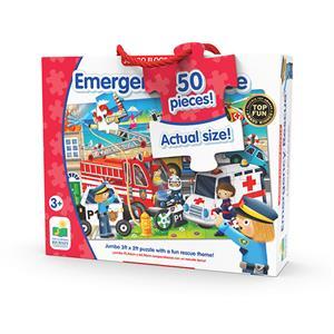 The Learning Journey Jumbo Yer Puzzle 50 Parça - Acil Durum Taşıtları