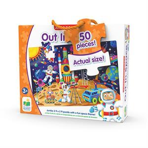 The Learning Journey Jumbo Yer Puzzle 50 Parça - Astronotlar Uzayda
