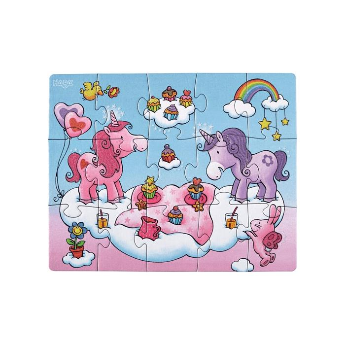 Haba Unicorn Üçlü Puzzle (45 Parça)