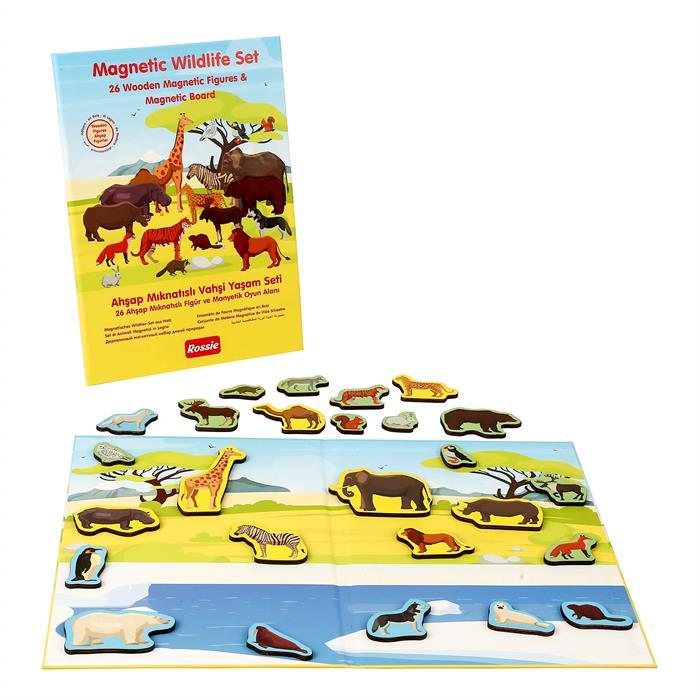 Rossie Ahşap Mıknatıslı Vahşi Yaşam Oyun Seti (Mıknatıslı Oyun Alanı)
